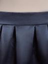 Юбка расклешенная из атласной ткани oodji для женщины (синий), 11600388-4/24393/7900N