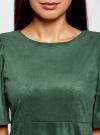 Платье из искусственной замши свободного силуэта oodji для женщины (зеленый), 18L11001/45622/6E00N - вид 4