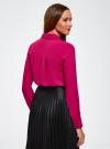 Блузка из струящейся ткани с украшением из страз oodji #SECTION_NAME# (розовый), 11411128/36215/4700N - вид 3