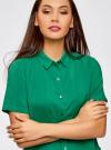 Блузка вискозная с короткими рукавами oodji #SECTION_NAME# (зеленый), 11411137B/14897/6E02N - вид 4