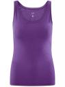 Майка базовая oodji для женщины (фиолетовый), 14315002B/46154/8300N