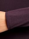 Платье трикотажное облегающего силуэта oodji для женщины (фиолетовый), 14001183B/46148/8801N - вид 5