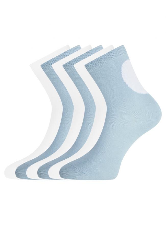 Комплект из шести пар носков oodji для женщины (разноцветный), 57102466T6/47469/8
