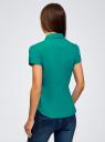 Рубашка хлопковая с коротким рукавом oodji для женщины (зеленый), 13K01004-1B/14885/6D00N
