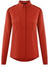 Блузка базовая из вискозы с нагрудными карманами oodji #SECTION_NAME# (красный), 11411127B/26346/4501N