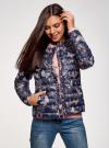 Куртка стеганая с круглым вырезом oodji #SECTION_NAME# (синий), 10204040-1B/42257/7980U - вид 2