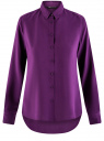 Блузка базовая из вискозы oodji #SECTION_NAME# (фиолетовый), 11411136B/26346/8801N