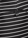Шорты хлопковые с ремнем oodji #SECTION_NAME# (черный), 11801117-2/33621/2912S - вид 5