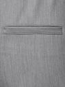 Брюки зауженные на эластичном поясе oodji для женщины (серый), 11703091B/18600/2300M