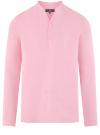 Рубашка льняная без воротника oodji #SECTION_NAME# (розовый), 3B320002M/21155N/4000N