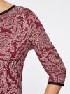 Платье трикотажное со складками на юбке oodji #SECTION_NAME# (красный), 14001148-1/33735/4912E - вид 5