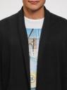 Кардиган хлопковый без застежки oodji #SECTION_NAME# (черный), 4L612132M/47167N/2900N - вид 4