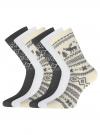 Комплект из шести пар хлопковых носков oodji #SECTION_NAME# (разноцветный), 57102902-5T6/49118/50 - вид 2