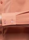 Блузка прямого силуэта с нагрудным карманом oodji для женщины (розовый), 11411134B/48853/4B01N