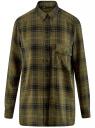 Блузка из вискозы с вышивкой на спине oodji #SECTION_NAME# (зеленый), 11411171/46974/6629C