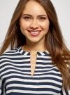 Блузка полосатая в морском стиле oodji #SECTION_NAME# (синий), 21408053-1/42888/7912S - вид 4