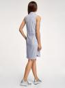 Платье хлопковое на кулиске oodji для женщины (синий), 11901147-4B/45202/1079O