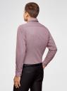 Рубашка хлопковая в мелкую графику oodji #SECTION_NAME# (красный), 3L110288M/19370N/1049G - вид 3