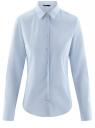 Рубашка базовая из хлопка oodji для женщины (синий), 11403227-1/46963/7000N
