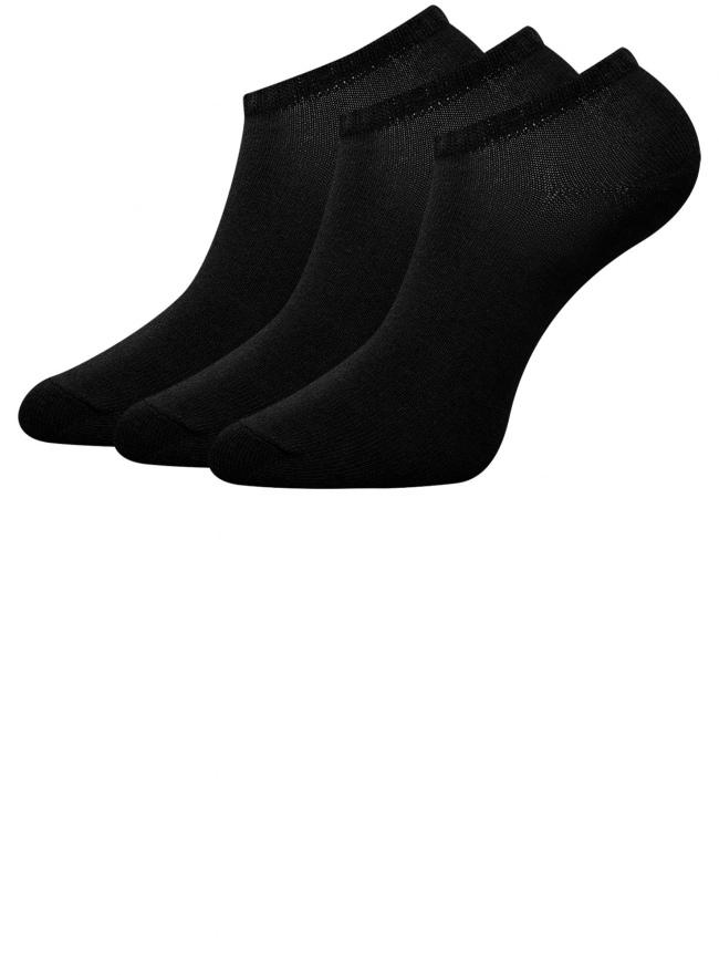 Комплект из трех пар укороченных носков oodji для женщины (черный), 57102433T3/47469/2900N