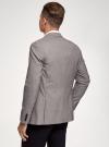 Пиджак однобортный на пуговицах oodji #SECTION_NAME# (серый), 2L420281M/49802N/2512C - вид 3