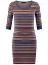 Платье жаккардовое с геометрическим узором oodji для женщины (разноцветный), 14001064-5/46025/7649G