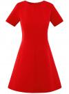 Платье жаккардовое с коротким рукавом oodji #SECTION_NAME# (красный), 11902161/45826/4500N