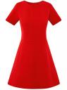 Платье жаккардовое с коротким рукавом oodji для женщины (красный), 11902161/45826/4500N