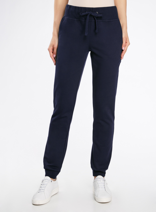 Комплект трикотажных брюк (2 пары) oodji для женщины (синий), 16700030-15T2/46173/7900N