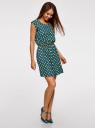 Платье принтованное из вискозы oodji #SECTION_NAME# (зеленый), 11910073-2/45470/6912D - вид 6