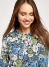 Платье приталенное принтованное oodji #SECTION_NAME# (разноцветный), 11900220-1/45352/7562F - вид 4
