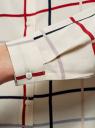 Блузка принтованная из вискозы oodji для женщины (бежевый), 11411098-1/46336/3379C