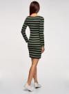 Платье базовое принтованное oodji #SECTION_NAME# (зеленый), 14011038-2B/37809/6629S - вид 3