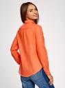 Рубашка хлопковая свободного силуэта oodji для женщины (оранжевый), 11411101B/45561/5500N