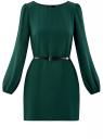 Платье из шифона с ремнем oodji #SECTION_NAME# (зеленый), 11900150-5B/32823/6900N