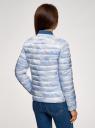 Куртка стеганая с круглым вырезом oodji #SECTION_NAME# (синий), 10204040-1B/42257/7080O - вид 3