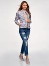 Куртка стеганая с круглым вырезом oodji для женщины (синий), 10204040-1B/42257/7019F - вид 6