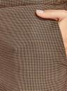 Брюки прямые на завязках oodji для женщины (коричневый), 11709039/49906/3733C