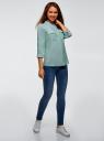 Блузка вискозная с нагрудными карманами oodji #SECTION_NAME# (зеленый), 11403225-7B/42540/6910G - вид 6