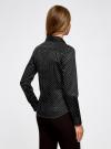 Рубашка принтованная приталенного силуэта oodji #SECTION_NAME# (черный), 21402213/35336/2912D - вид 3