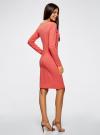 Платье трикотажное облегающего силуэта oodji для женщины (розовый), 14001183B/46148/4101N - вид 3