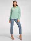 Блузка вискозная с нагрудным карманом oodji #SECTION_NAME# (зеленый), 11401275-1/24681/6C10S - вид 6