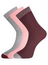 Комплект из трёх пар носков oodji #SECTION_NAME# (разноцветный), 57102908T3/15430/3 - вид 2