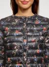 Куртка стеганая с круглым вырезом oodji #SECTION_NAME# (черный), 10204040-1B/42257/2919F - вид 4