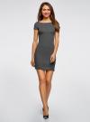 Платье трикотажное с принтом oodji для женщины (черный), 14001117-4/16564/2910S - вид 2