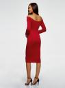 Платье облегающее с вырезом-лодочкой oodji для женщины (красный), 14017001-5B/46944/4501N