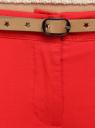 Брюки-чиносы с перфорированным звездами ремнем oodji для женщины (красный), 11706190-3/43526/4500N