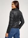 Куртка стеганая с воротником-стойкой oodji для женщины (черный), 10203038-5B/33445/2900N