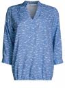 Блузка вискозная с рукавом-трансформером 3/4 oodji #SECTION_NAME# (синий), 11403189-2B/26346/7512O