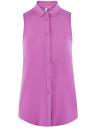 Топ вискозный с нагрудным карманом oodji #SECTION_NAME# (красный), 11411108B/26346/4C00N